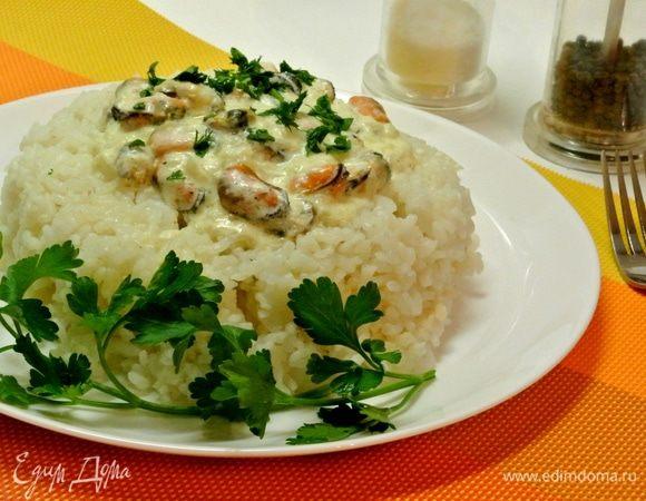 Рис с мидиями в соусе