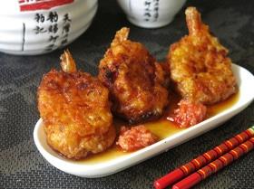 Эби сатоимо шинджо — японские крокеты из креветок