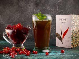 Ароматный чай с ягодным льдом