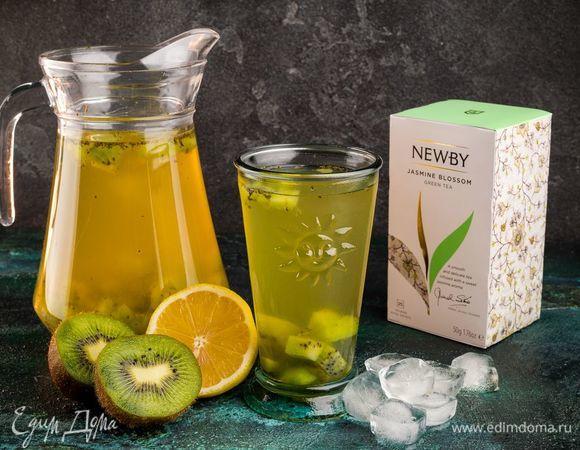 Витаминный чай с киви и мятным сахаром