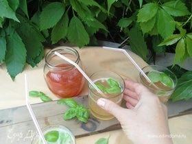 Лимонад «Персик–Базилик»