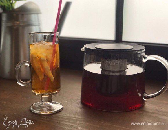 Холодный мятный чай с лаймом