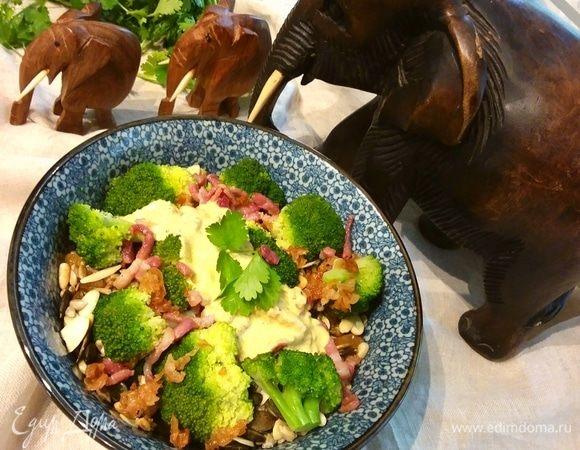 Африканский салат с брокколи