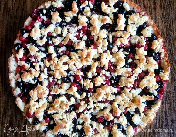 Пирог рассыпчатый с ягодами