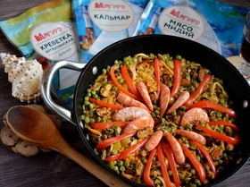 Паэлья с морепродуктами по-аргентински