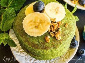 Зеленые блинчики с бананом по-тайски
