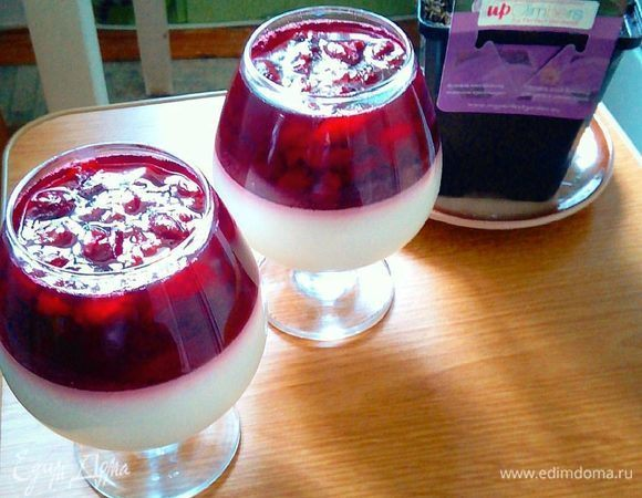 Вишнево-сливочный десерт