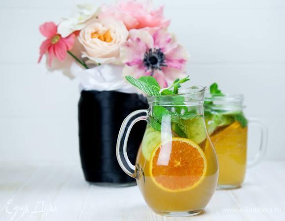 Домашний лимонад с мятой и огурцом