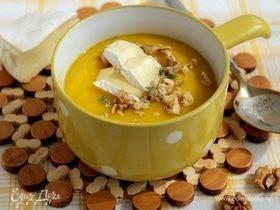 Тыквенный суп с сыром бри