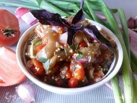 Салат из запеченных баклажанов с медом