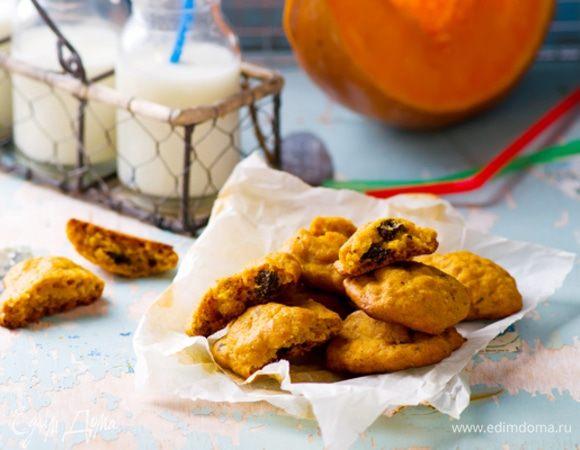 Тыквенное печенье с хрустящими отрубями