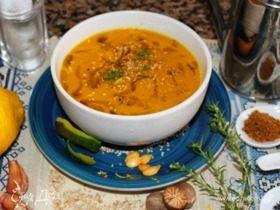 Тыквенный суп-пюре с манго и зеленым чаем
