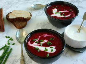 Пряный свекольно-тыквенный суп