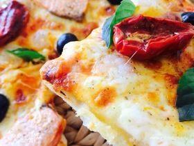 Пицца с креветками и семгой