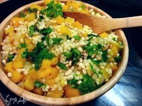 Израильский кускус с тыквой и марокканские лимоны
