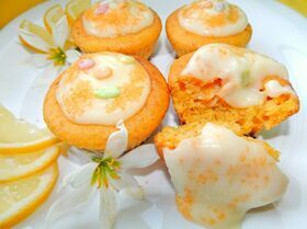 Тыквенные кексы с лимонным кремом