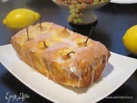 Кекс с грушами на лимонном джеме