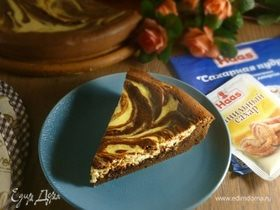Шоколадно-банановый пирог