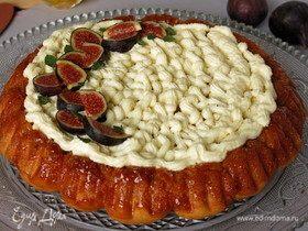 Инжирный пирог с карамелью и сливочным кремом