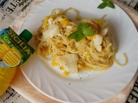 Лимонно-мятные спагетти