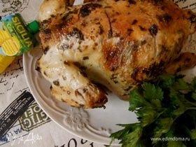 Курица в соленаде, запеченная с травами