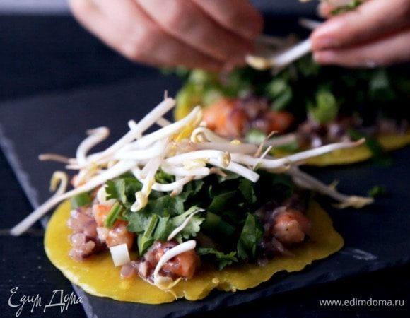 Вьетнамские блинчики с креветками