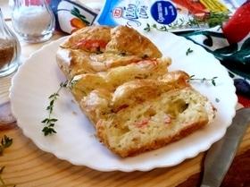 Сырный пирог с крабовыми палочками
