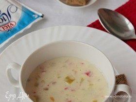 Сливочный крем-суп с крабовыми палочками