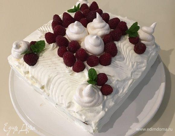 Маковый торт с малиной