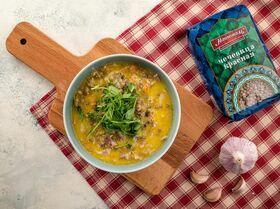 Суп с красной чечевицей и беконом