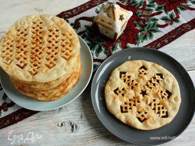 Исландский рождественский хлеб Laufabrauð