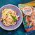 Паста с креветками и сливочным соусом
