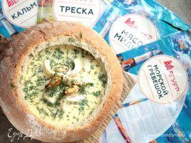 Исландский сливочный суп в хлебе