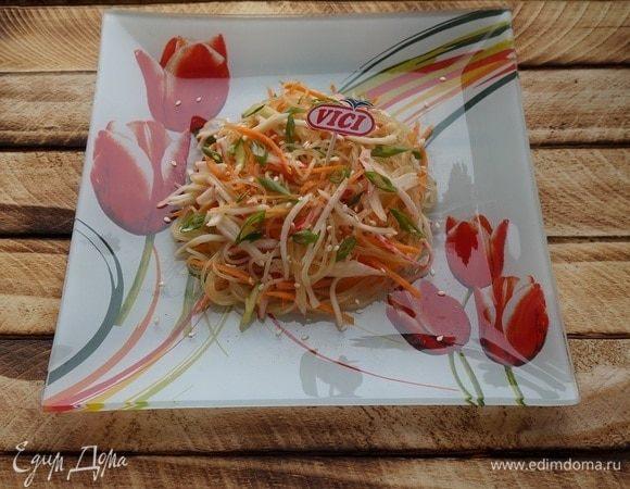 Салат с крабовыми палочками «Любимый»