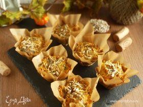 Маффины из тыквы, творога и семечек