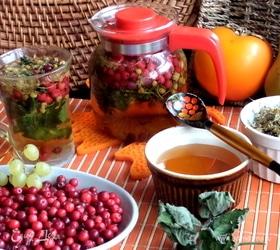 Бруснично-ромашковый чай с мятой