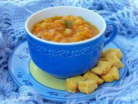 Тыквенный суп с нутом
