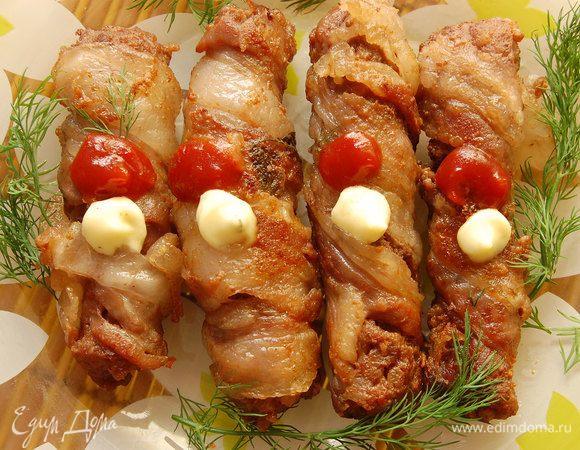 Крученики из свинины с грибами