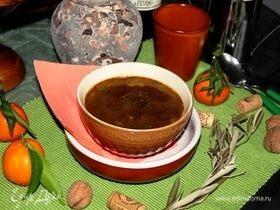 Чечевичный суп с вялеными помидорами