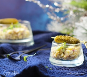 Картофельный салат с белой рыбой