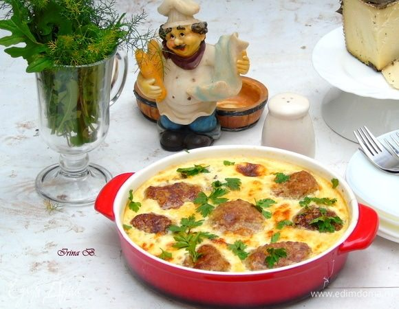 Тефтели в сырно-сливочном соусе
