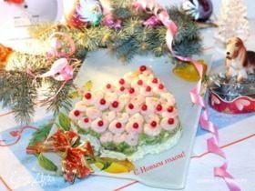 Салат с авокадо «Новогодняя открытка»
