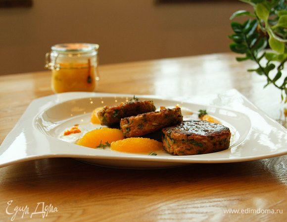 Морковный хашбраун с медовым соусом