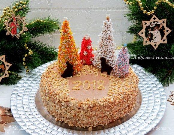 Торт «Киевский» грильяжный