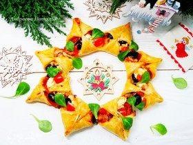 Пицца «Рождественский венок»