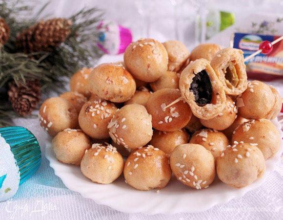 Закусочные шарики с оливкой