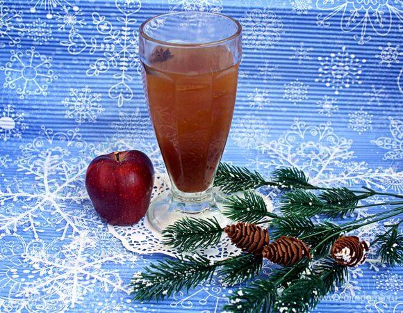 Пряный яблочно-лимонный напиток