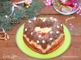 Кекс шоколадно-малиновый