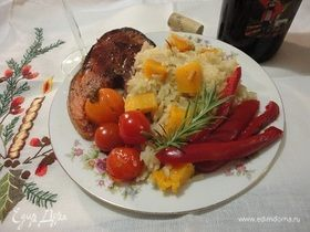 Красная рыба с зимним рисом