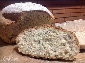 Хлеб с семенами льна и цельнозерновой мукой